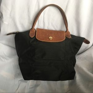 Longchamp Le Pilage Top-Handle S in Black Nylon